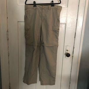 Eddie Bauer Convertible Cargo Pants 38x32 Tan